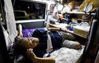 車中泊なお575人 熊本地震