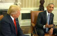 トランプ氏 オバマ大統領と初会談
